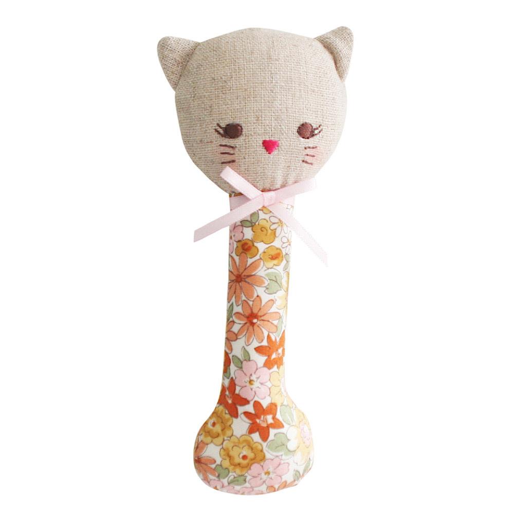 Alimrose Kitty Stick Rattle - Sweet Marigold