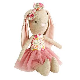 Alimrose Alimrose Linen Baby Pearl Bunny - Rose Garden