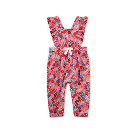 Tea Collection Tea Collection Floral Ruffle Romper - Wildflower
