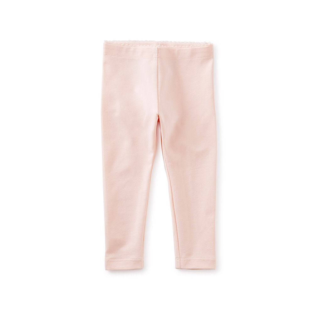 Tea Collection Tea Collection Solid Baby Leggings - Pink Salt