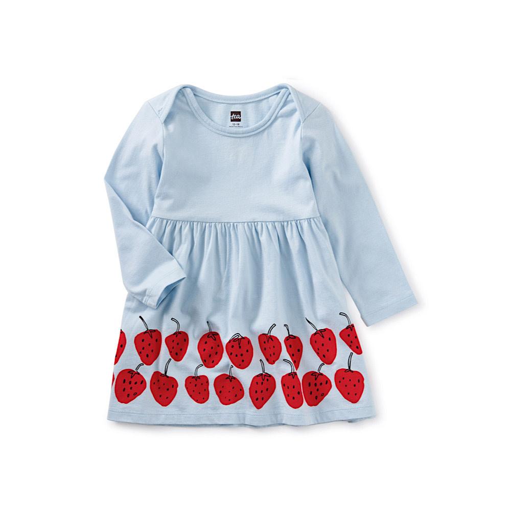 Tea Collection Tea Collection Strawberry Baby Dress - Skyride