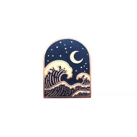 Lost Lust Supply Lost Lust Supply Enamel Pin - Wave