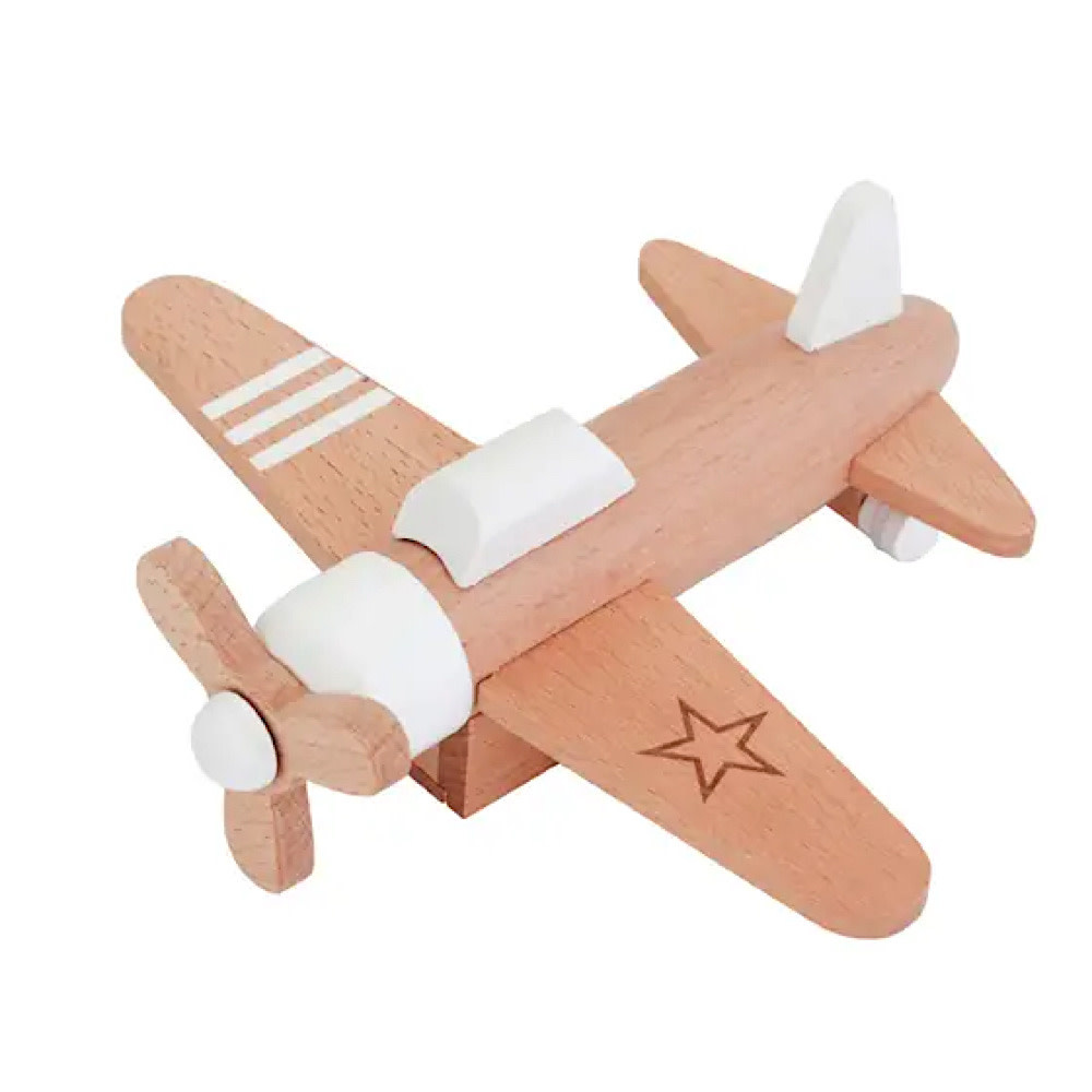 Kiko+ & gg* Hikoki Pull-Back Propeller Plane - White