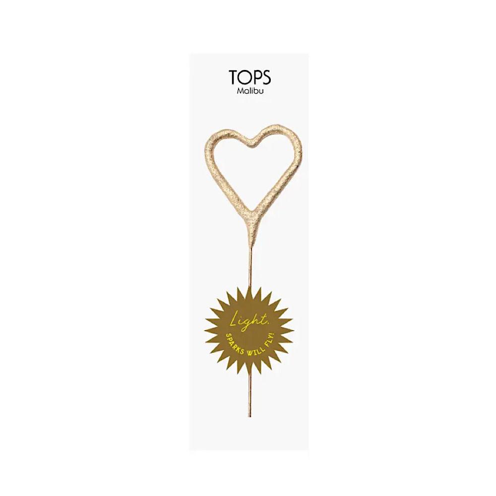 Tops Malibu Mini Heart Sparkler -Gold