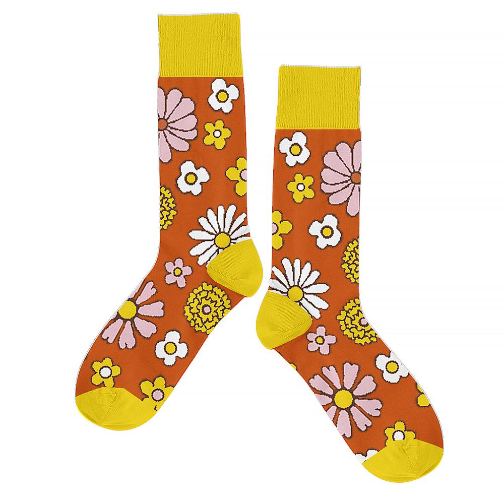 Talking Out Of Turn Socks - Flower Power