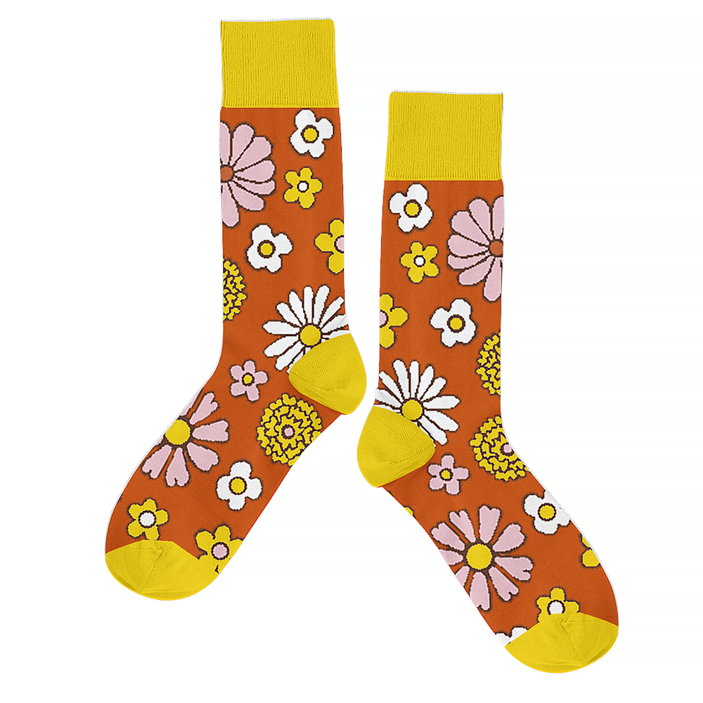 Talking Out of Turn Talking Out Of Turn Socks - Flower Power