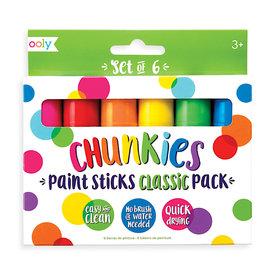 Ooly Chunkies Paint Sticks Set - Set of 6