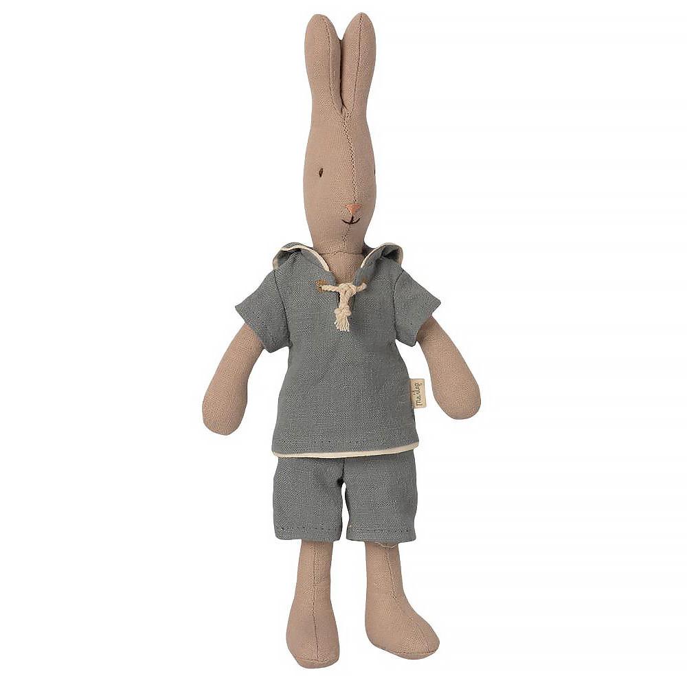 Maileg Rabbit - Dusty Blue Sailor Boy - Small Size 1
