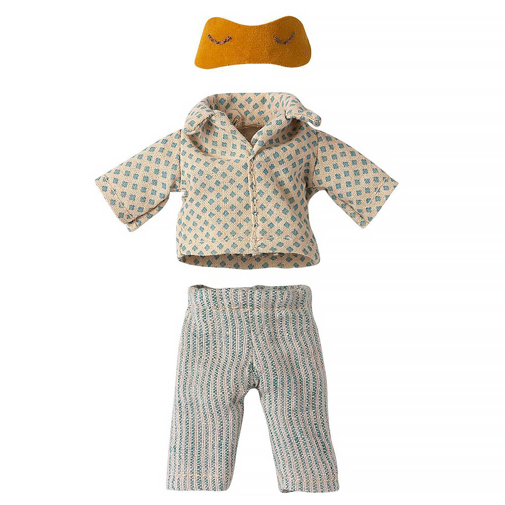Maileg Mouse - Yellow Pyjamas for Dad Mouse