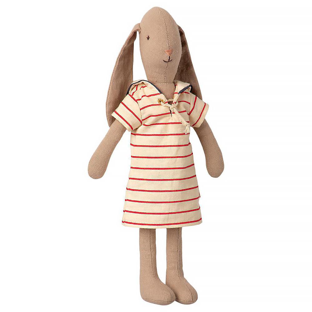 Maileg Maileg Bunny - Striped Dress - Small Size 2