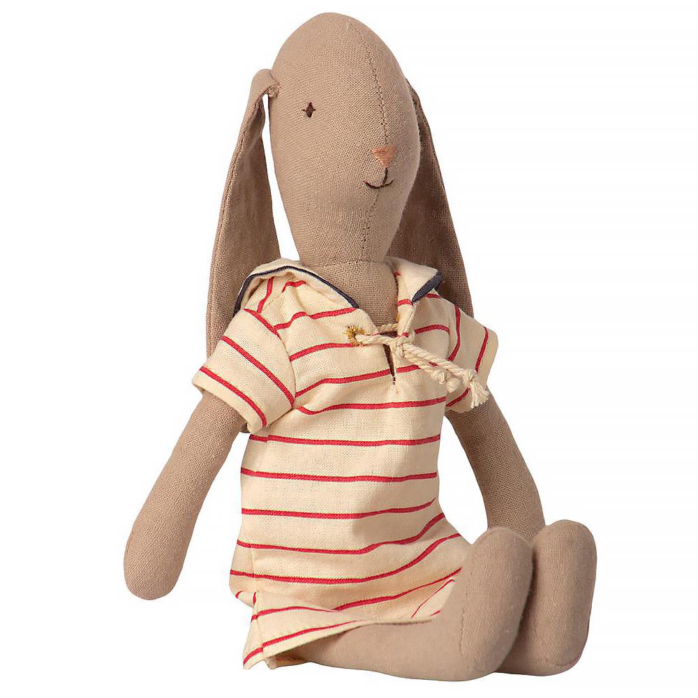 Maileg Bunny - Striped Dress - Small Size 2