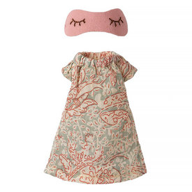 Maileg Maileg Mouse - Pink Nightgown for Mum Mouse