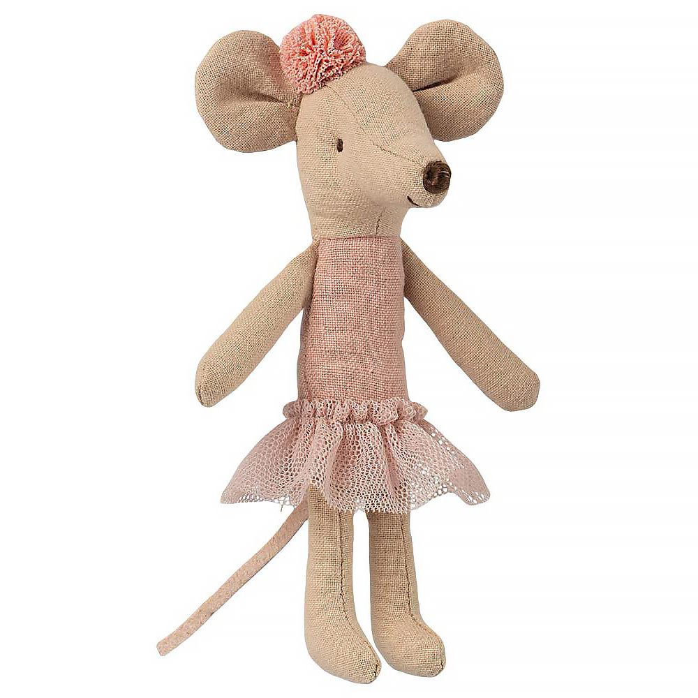 Maileg Maileg Mouse - Big Sister - Ballerina with Pom