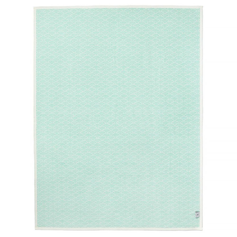 Chappywrap Blanket - Brewster Scallops Turquoise