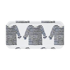 Trays4Us Sara Fitz Striped Shirt Tray Small