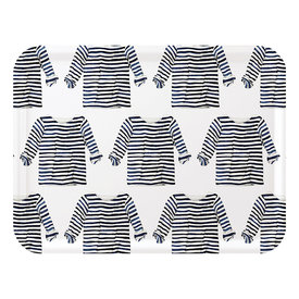 Trays4Us Sara Fitz Striped Shirt Tray Large