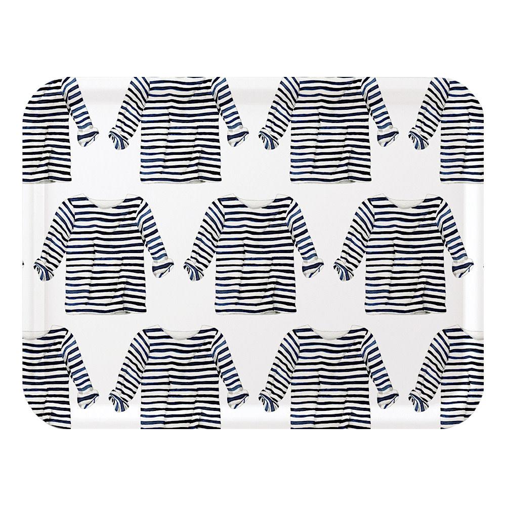 Sara Fitz Striped Shirt Tray Large