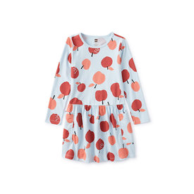 Tea Collection Tea Collection Long Sleeve Pocket Dress - Apple a Day