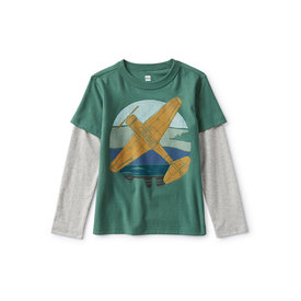 Tea Collection Tea Collection Plane Layered Slv Graphic - Botany Green