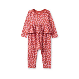 Tea Collection Tea Collection Printed Peplum Romper - True Hearted