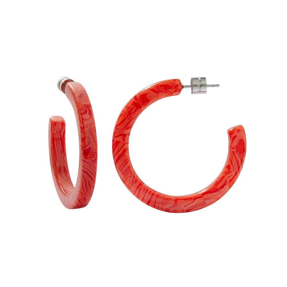 Machete Machete - Midi Hoop Earrings - Poppy