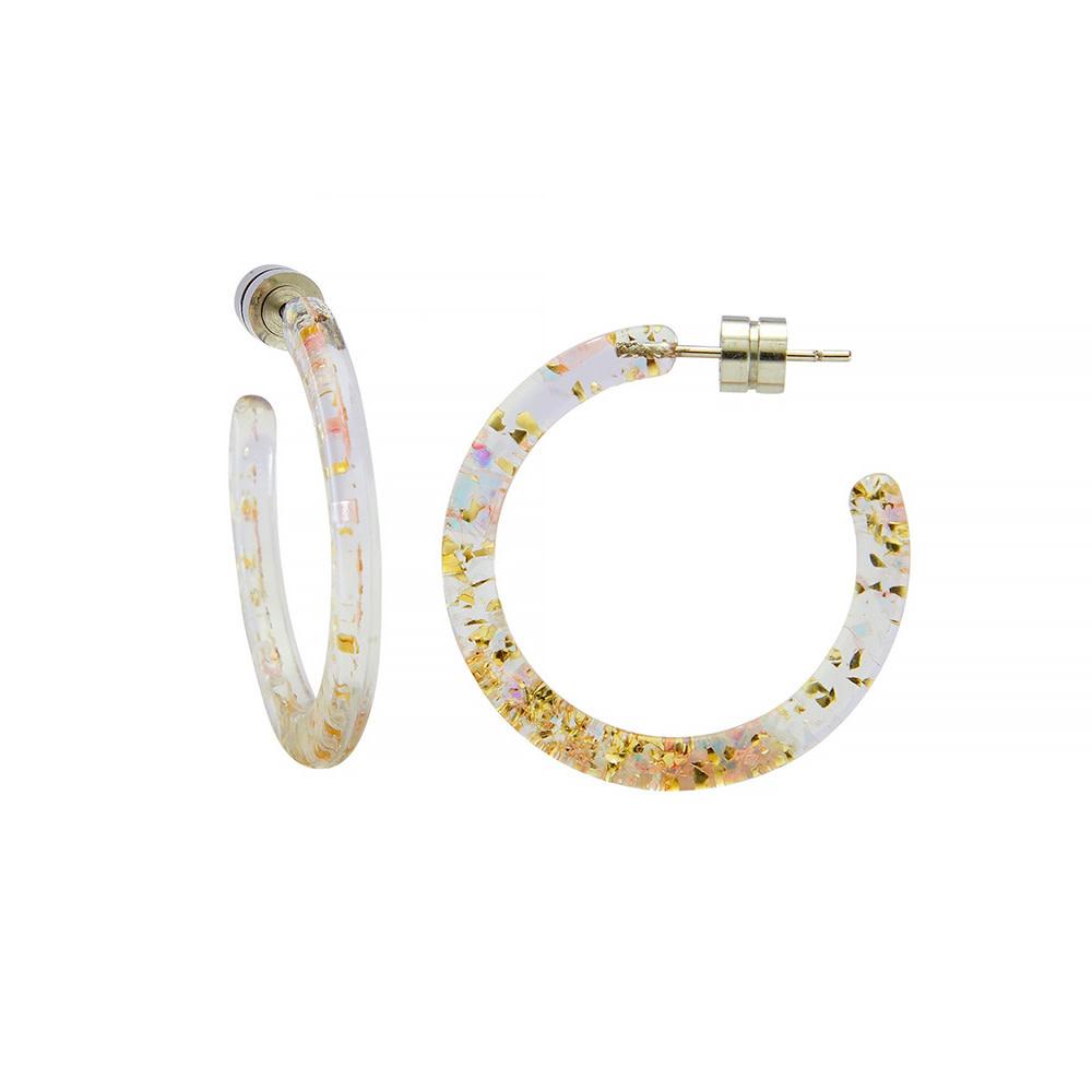 Machete Machete - Mini Hoop Earrings - Glitter