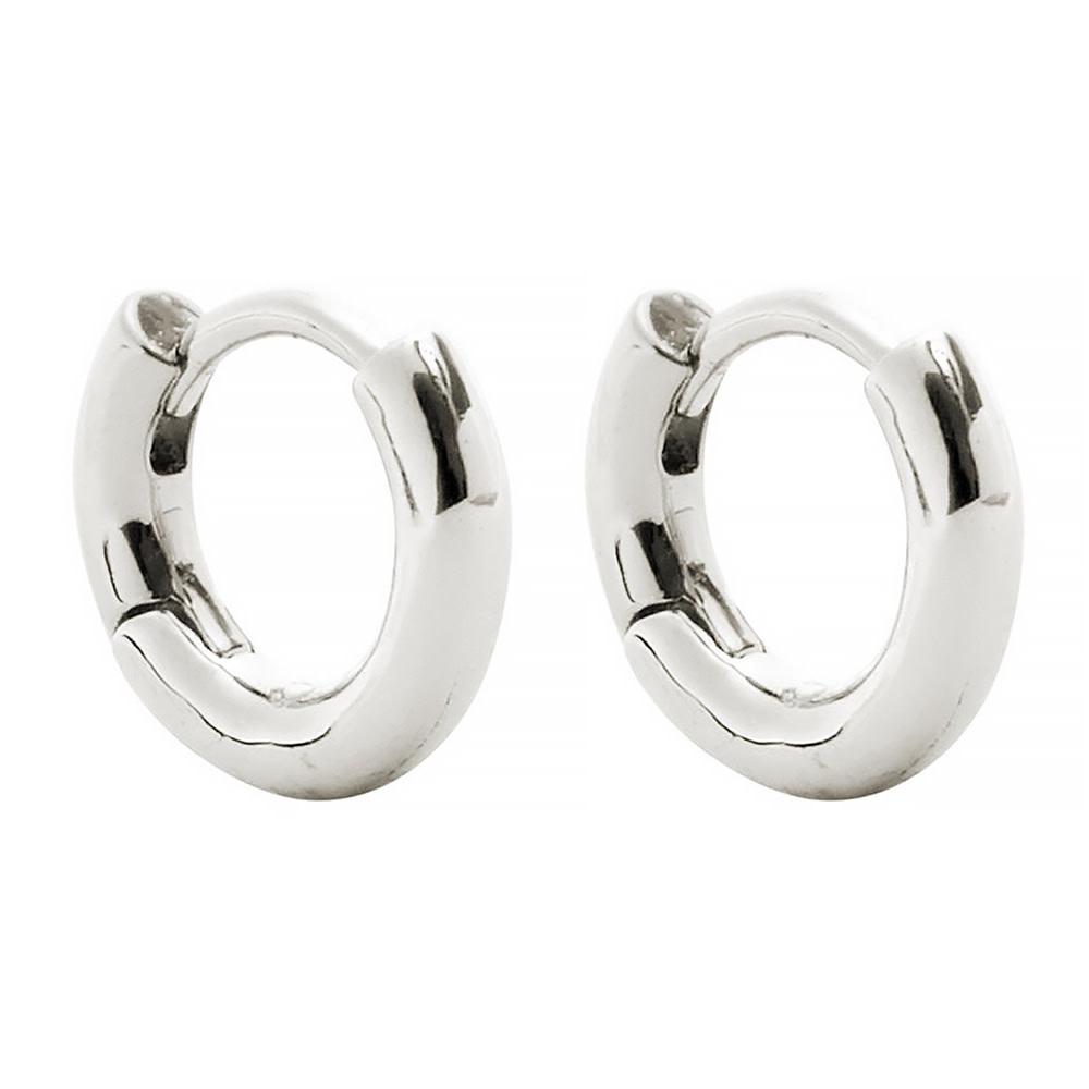 Machete Machete - Huggie Hoop Earrings - Silver