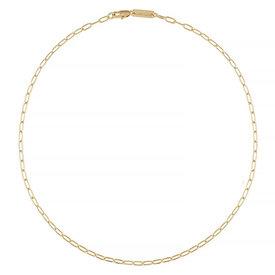 "Machete Machete - Petite Oval Link Necklace - Gold 18"""