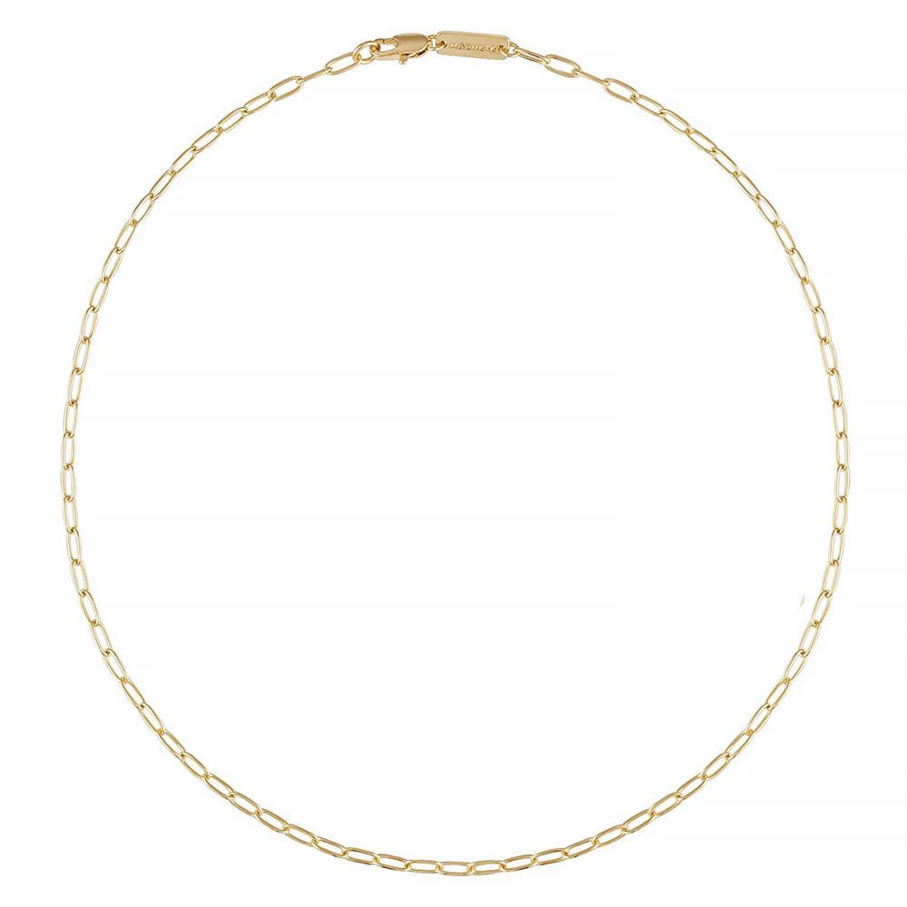 "Machete - Petite Oval Link Necklace - Gold 18"""