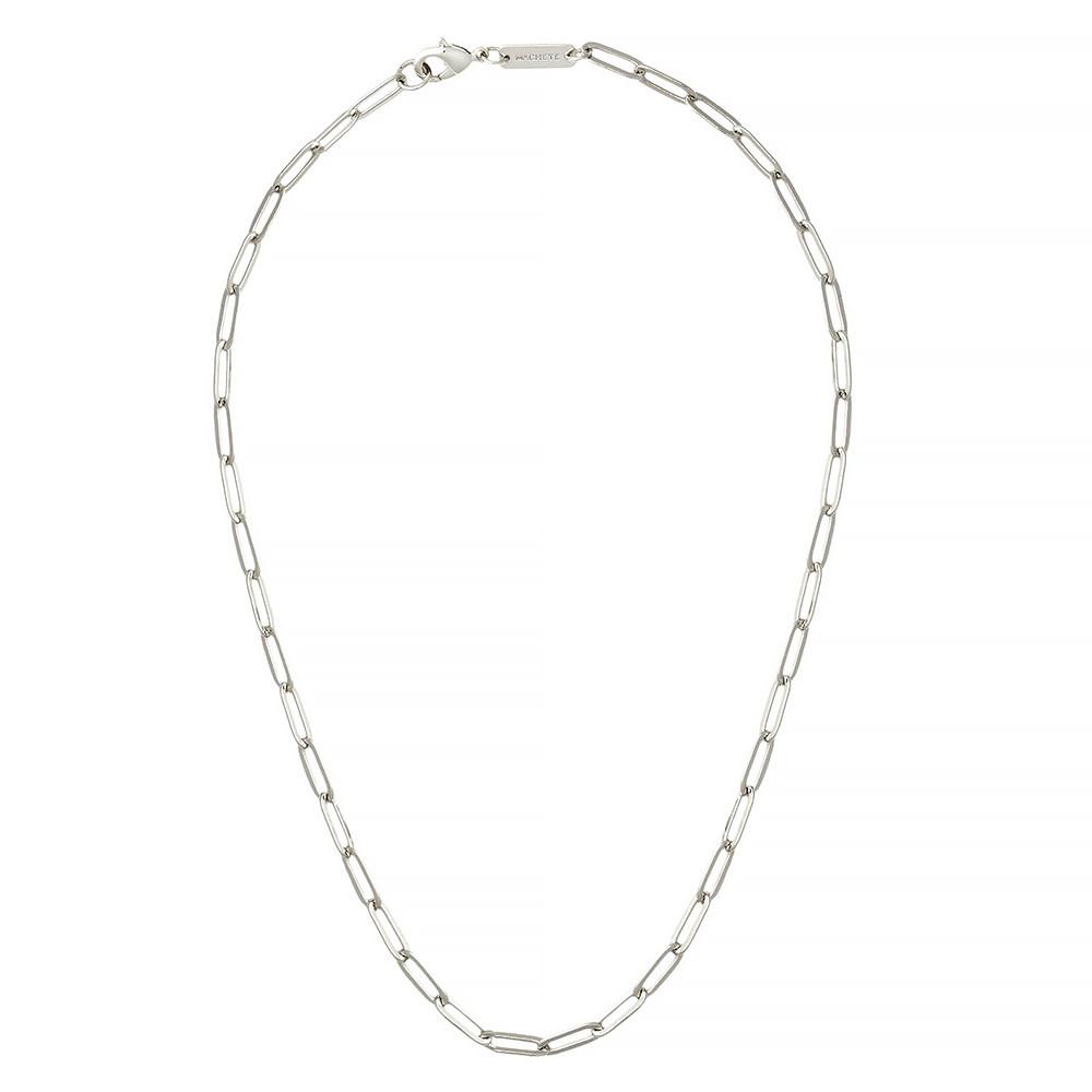 "Machete - Petite Paperclip Chain Necklace - Silver 18"""