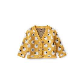 Tea Collection Tea Collection Button Baby Cardigan - Lucky Star