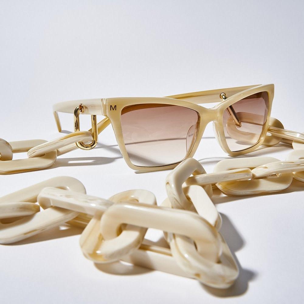 Machete - Chunky Sunglass Chain in Alabaster