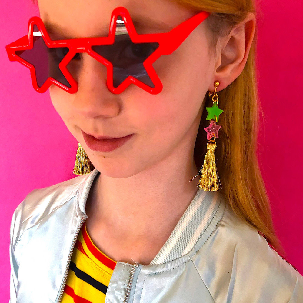 Gunner & Lux Clip On Earrings - Starlight