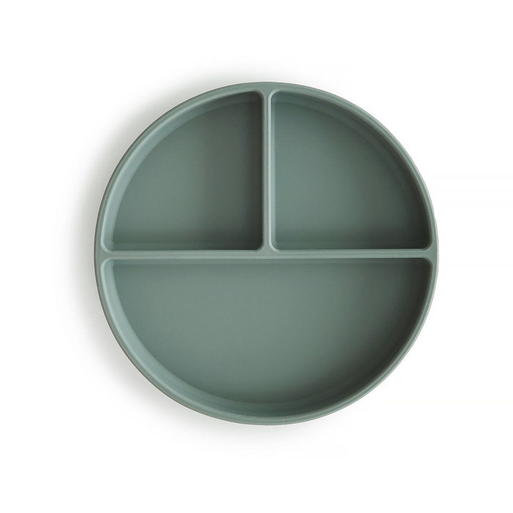 Mushie Silicone Suction Plate - Cambridge Blue