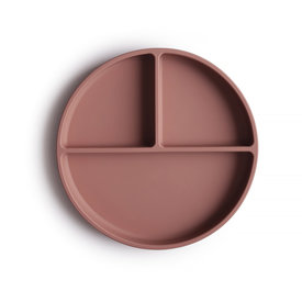 Mushie Mushie Silicone Suction Plate - Cloudy Mauve