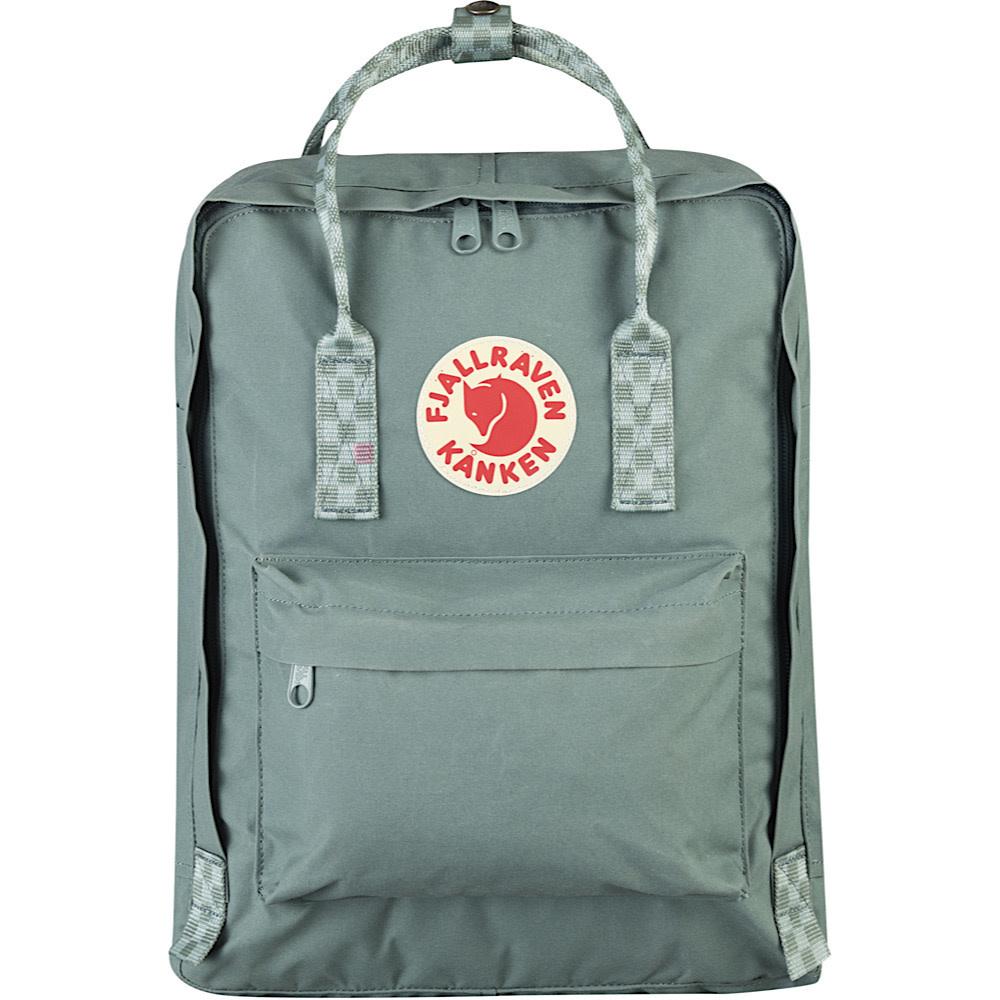 Fjallraven Kanken Classic Backpack - Frost Green/Chess Pattern