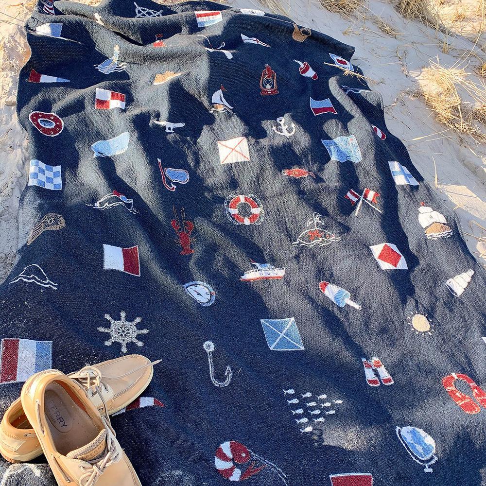 Ramus & Co Yacht Club Prep Throw Blanket