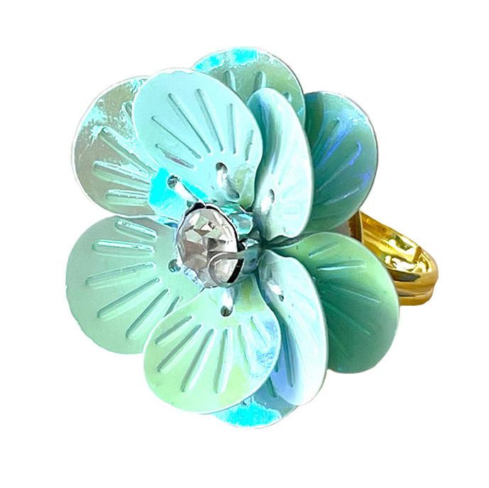 Gunner & Lux Adjustable Ring - Flower Power Sea Glass