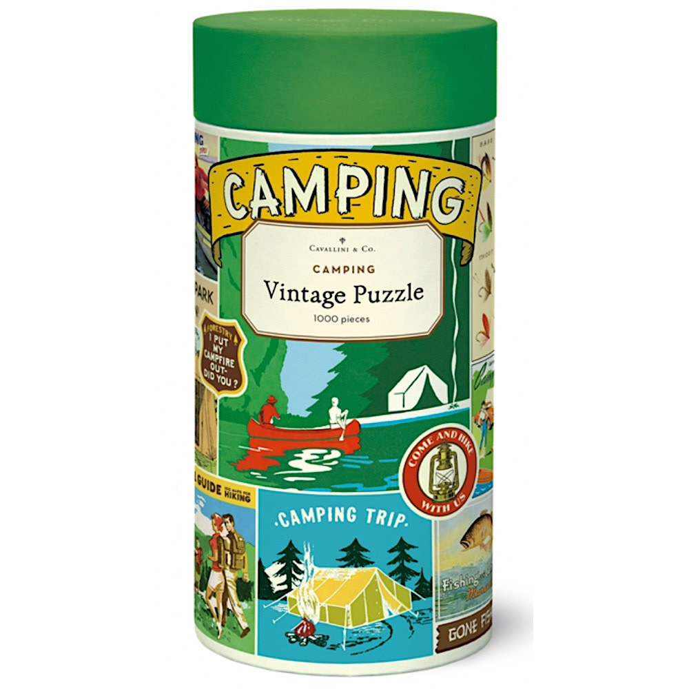 Cavallini Papers & Co., Inc. Cavallini Jigsaw Puzzle - Camping - 1000 Pieces