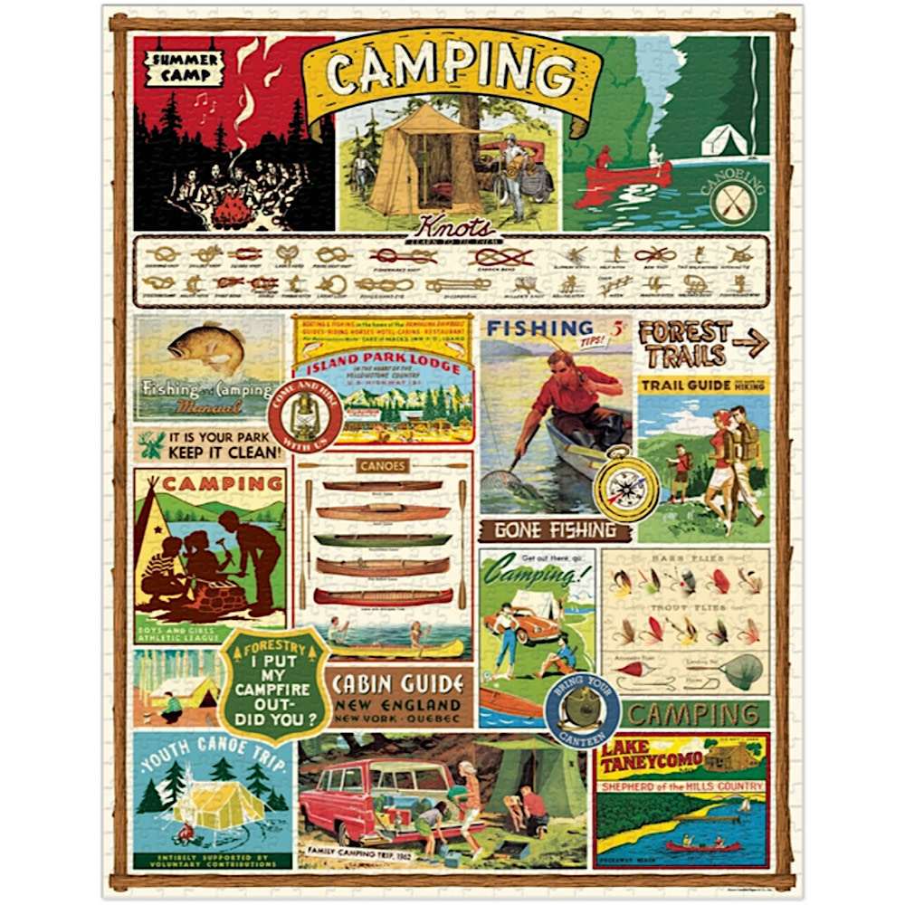 Cavallini Jigsaw Puzzle - Camping - 1000 Pieces