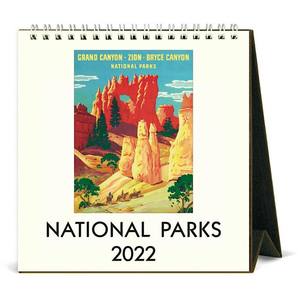 Cavallini Desk Calendar - National Parks 2022