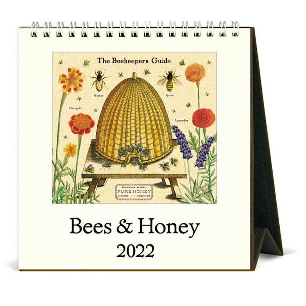 Cavallini Desk Calendar - Bees & Honey 2022