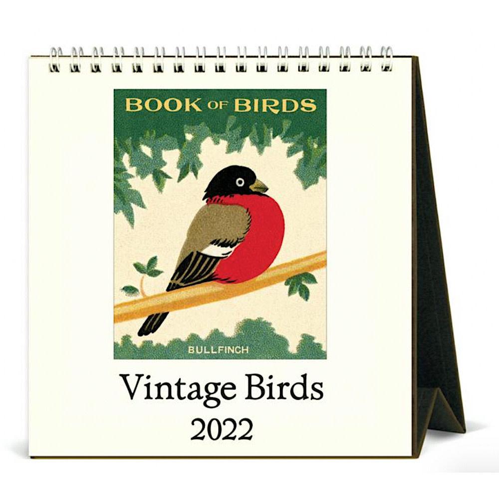 Cavallini Desk Calendar - Birds 2022