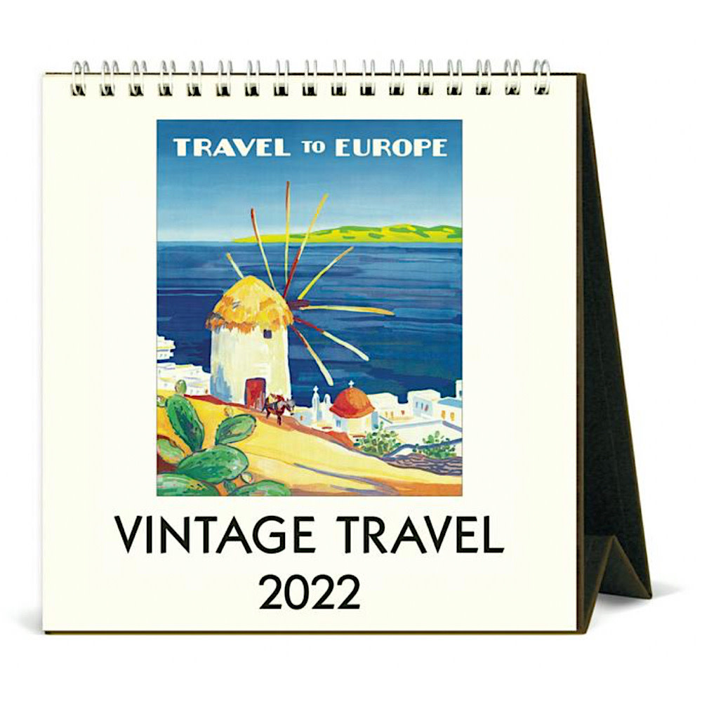 Cavallini Desk Calendar - Vintage Travel 2022