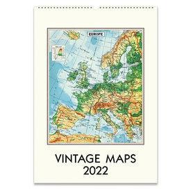 Cavallini Papers & Co., Inc. Cavallini Wall Calendar - Vintage Maps 2022