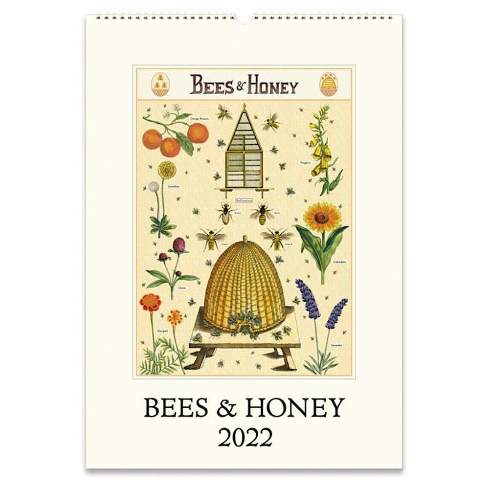 Cavallini Wall Calendar - Bees & Honey 2022