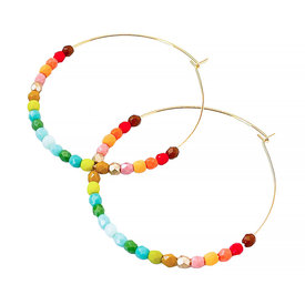 Nest Pretty Things Nest Pretty Things - Large Ombre Beaded Hoops