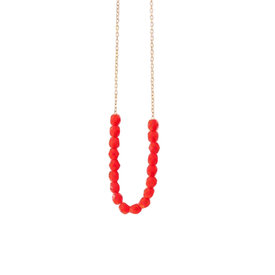 Nest Pretty Things Nest Pretty Things - Bead Necklace - Red