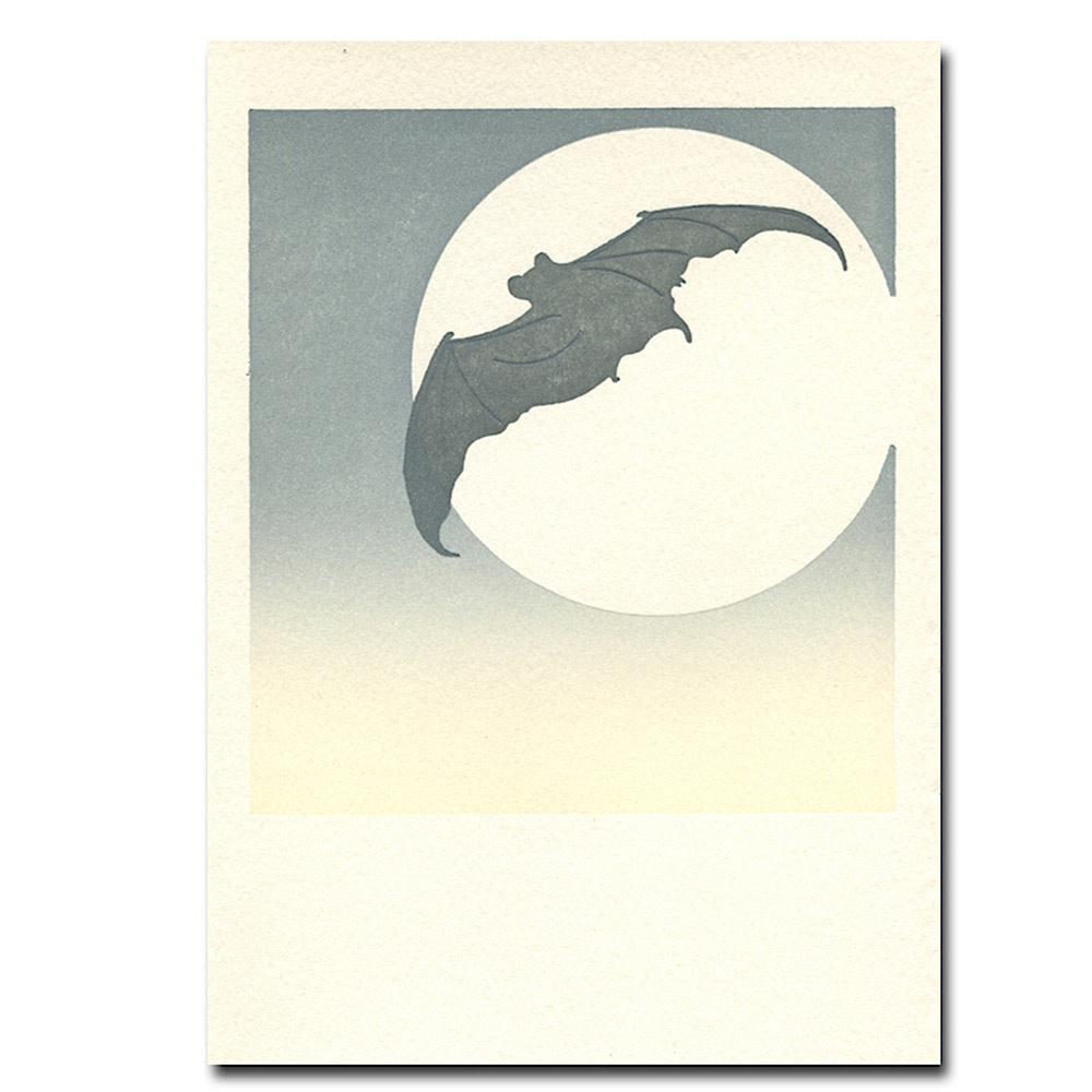Saturn Press Moon Bat  Card