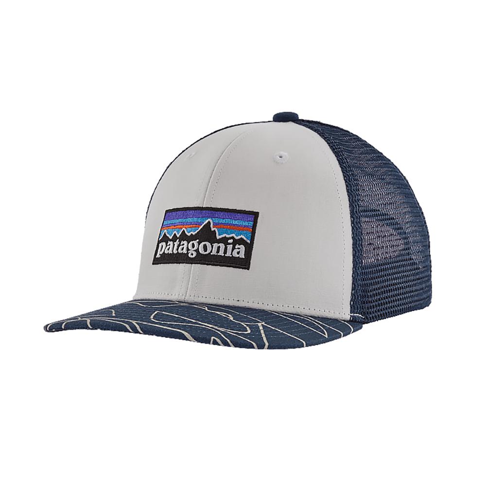 Patagonia Trucker Hat Kids - P6 Logo Bartolome Small - Stone Blue